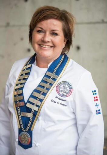 Kristine Hartviksen ble gjenvalgt som president i NKF. (Foto: Fredrik Ringe)