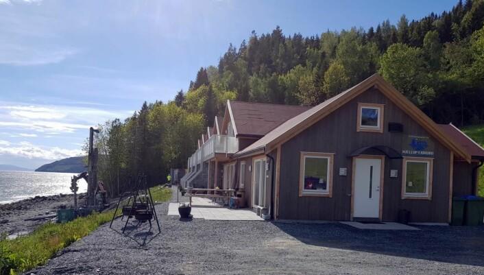 Det foregår spunting, det vil si sikring av grunnen, før Fjordbo-anlegget åpner igjen etter planen 1. juli. (Foto: Odd Henrik Vanebo)
