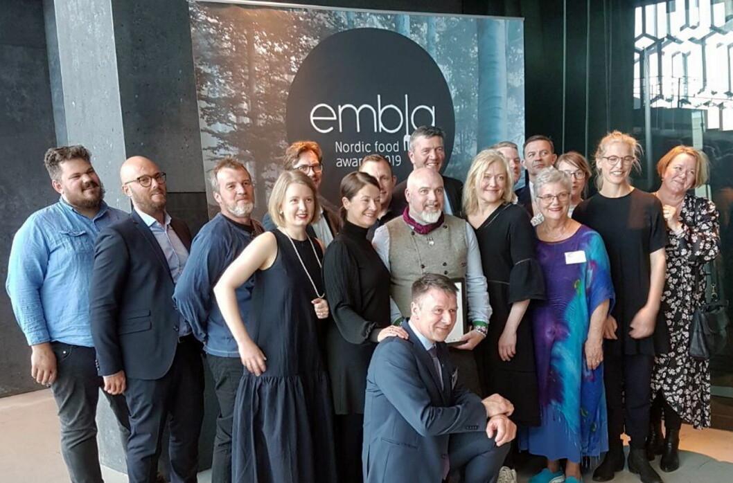 De nominerte og jury i Embla 2019. (Foto: Norges Bondelag)