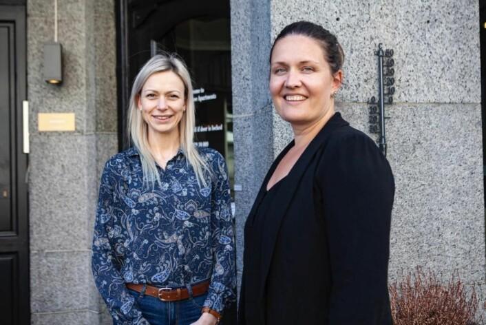 Pierre Puggard skryter av sine medarbeidere. Camilla Berge (til høyre) er hotellsjef og Magdalena Zaleska har vært med fra starten og leder nå housekeeping. Selv om vi har vokst, er vi fremdeles som en familie, sier han.