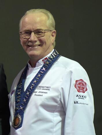 Helge Johansen er president i Norske Kokkers Landsforening. (Foto: Eirik Nilssen/NKL)