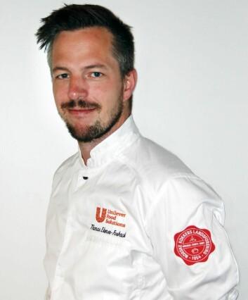 Thomas Ekenes-Fosback er kaptein på Kokkelandslaget Community Catering. (Foto: Unilever Food Solutions)