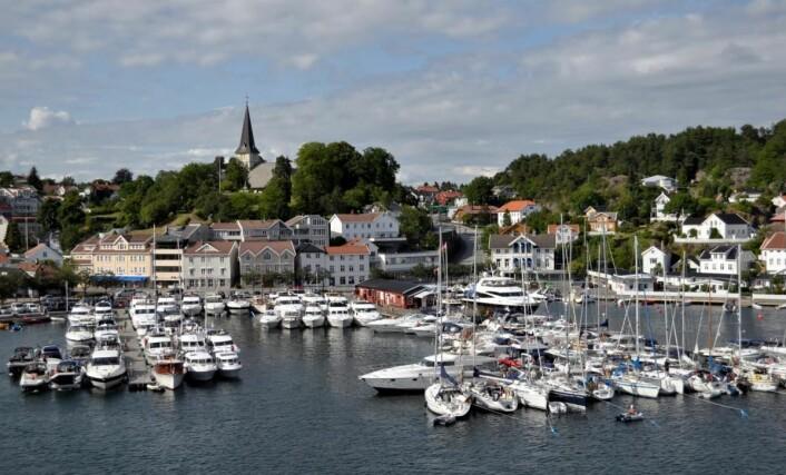 Grimstad gjestehavn. (Foto: Jan Skaregrøm)