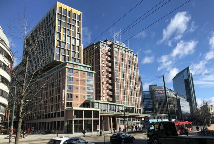 Clarion Hotel The Hub ligger sentralt i Oslo. (Foto: Morten Holt)