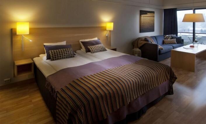 Fra ett av rommene på Thon Hotel Kristiansand. (Foto: Hotels.com)