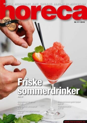 Forsiden på Horecas fjerde utgave i 2019. (Foto: Mr. Iceman/layout: Tove Sissel Larsgård)