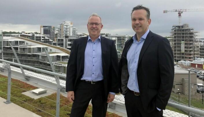 Ole Petter Christensen (til venstre) sammen med administrerende direktør Stian Fuglset. (Foto:Oslofjord Convention Center)