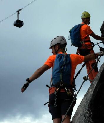 Du kan ta gondolen opp, men hvis du vil utfordre deg selv, er det en hg og spennende rute opp:«Ragnarok». (Foto: Wojciech Flaczynski)
