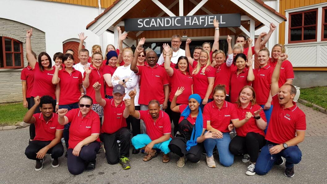 Ansatte på Scandic Hafjell kan se tilbake på tidenes beste juli på hotellet. (Foto: Scandic Hafjell)