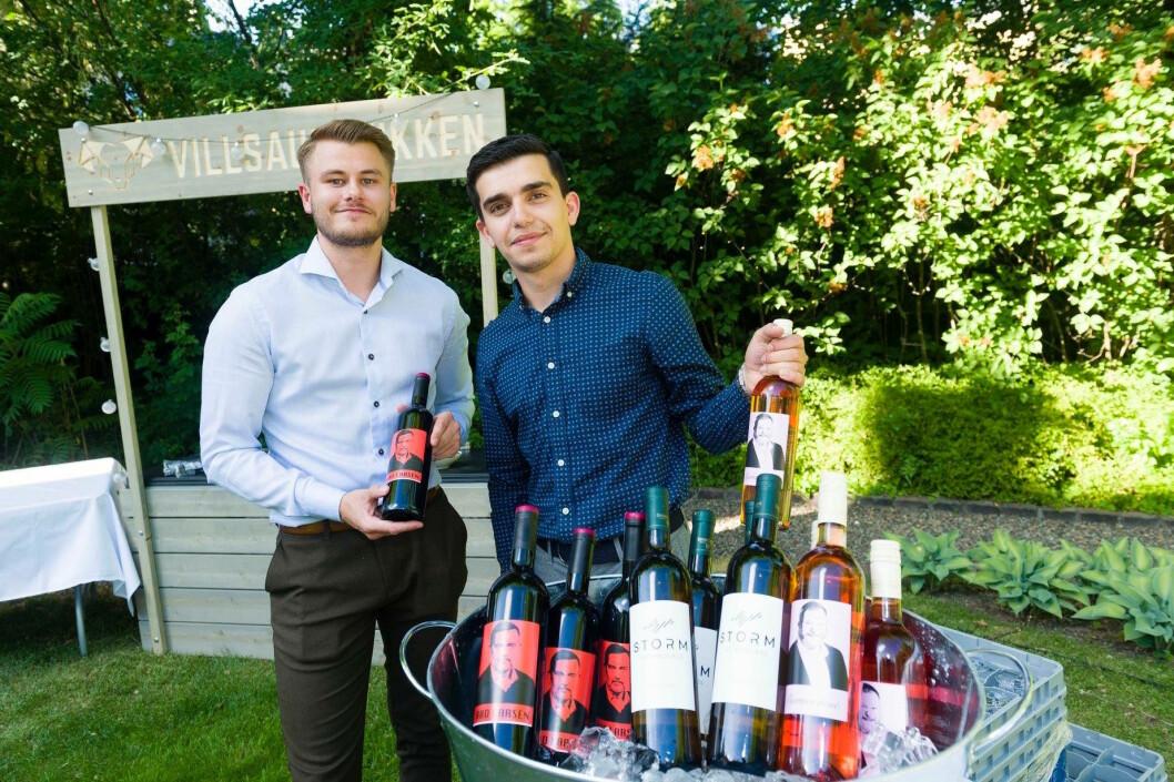 Adriatik Håti og Martin Kanck står bak selskapene Kantik Wine og Kantik Brands, og satser på vinimport fra Balkan. (Foto: Privat) (Foto: Kantik Wine)