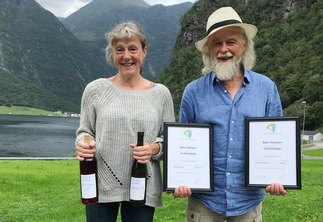Halldis Nedrebø og Bjørn Bergum. (Foto: Hanen)