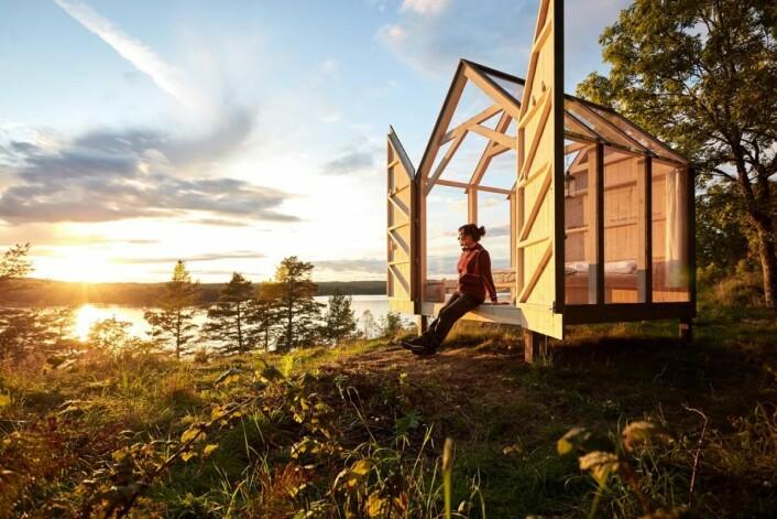 72 Hour Cabin i Henriksholm. (Foto: Jonas Ingman)