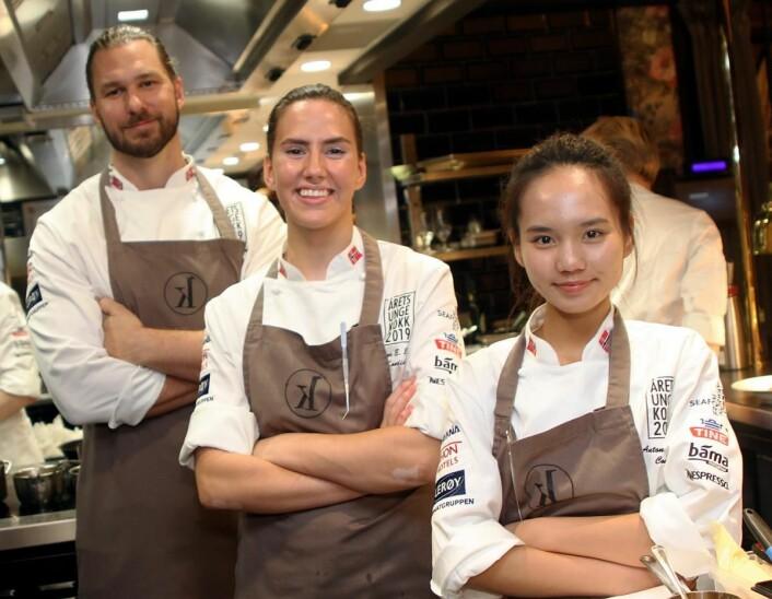 Michael Svensson (fra venstre), Celine Ekholt og Na Tran. (Foto: Morten Holt)