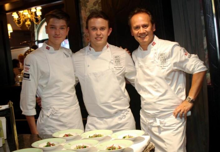 Andreas Fjellheim (fra venstre), Aron Espeland og Pål Suarez. (Foto: Morten Holt)