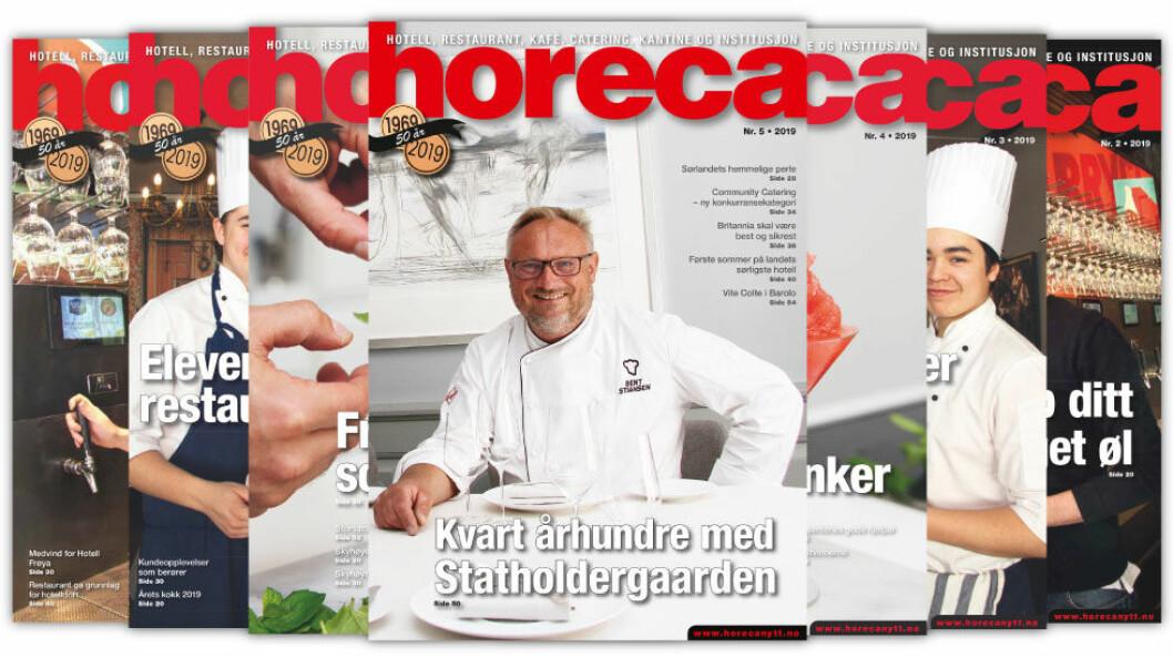 Forsiden på Horecas femte utgave i 2019. (Foto: Morten Holt/layout: Tove Sissel Larsgård)