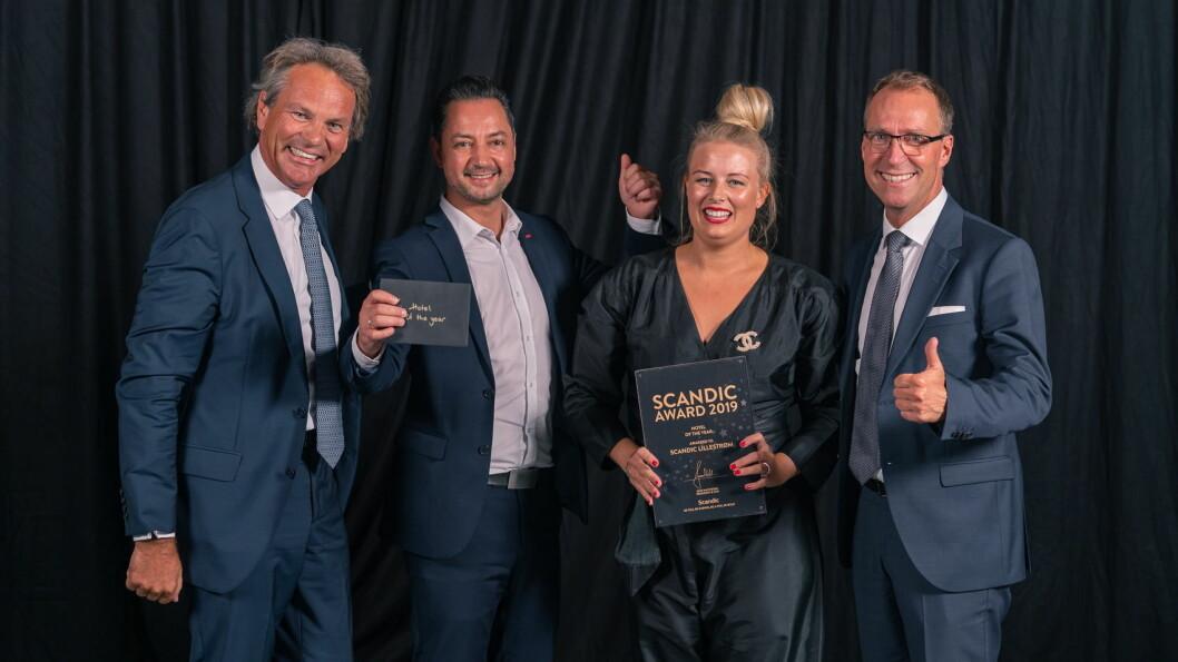 Scandic Lillestrøm med hotelldirektør Jannicke Holmgreen Lorentzen i spissen, er kåret til årets beste Scandic-hotell. (Foto: Scandic Hotels)
