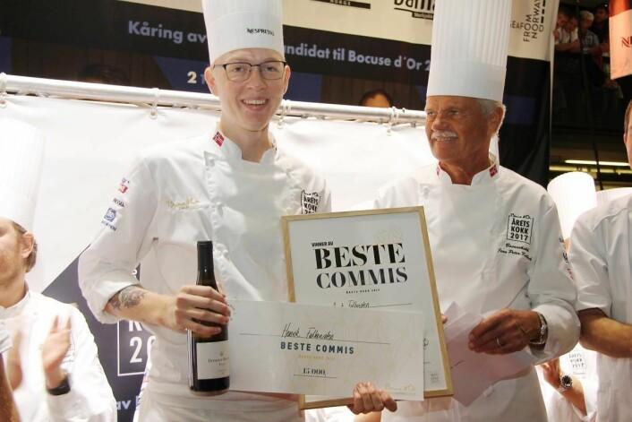 Henrik Falkensten ble kåret til den beste commisen i Årets kokk 2017. (Foto: Morten Holt)