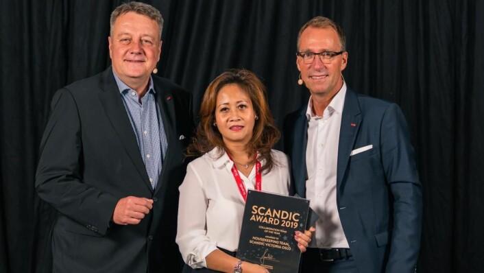 Årets team hos Scandic Hotels: Housekeeping-avdelingen på Scandic Victoria Oslo. (Foto: Scandic Hotels)
