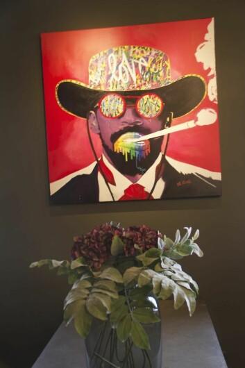 Ett av Mr. Klings malerier som vil pryde lokalene i Bygdø allé 53. (Foto: Bølgen & Moi)