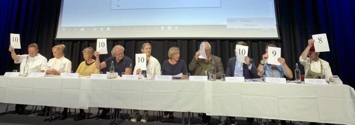 Fagjuryen i NM i ost 2019. (Foto: Bo Hansen)