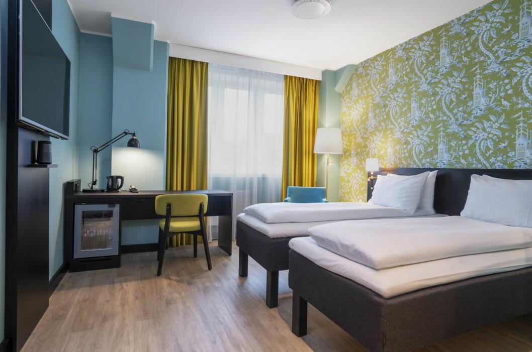 Thon Hotel Maritim er nyoppusset. Her fra et av rommene. (Foto: Thonhotels.no)