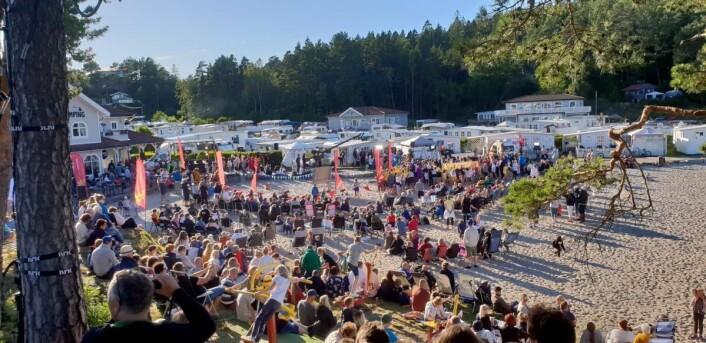 Fra NRKs sommeråpent på Moysand camping. (Foto: NHO Reiseliv)