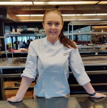 Kathinka Gulbrandsen er ny kjøkkensjef på Thon Hotel Oslo Airport. (Foto: Thon Hotel Oslo Airport)