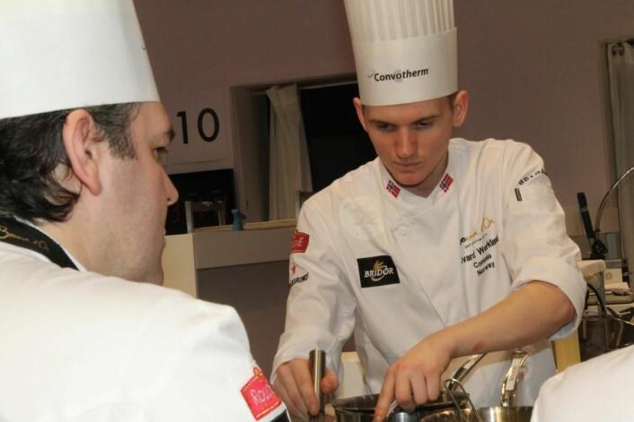 Håvard Werkland var commis for Christopher Davidsen i Bocuse d'Or. I neste uke skal han selv i aksjon som hovedkokk i Årets kokk 2019. (Foto: Morten Holt)