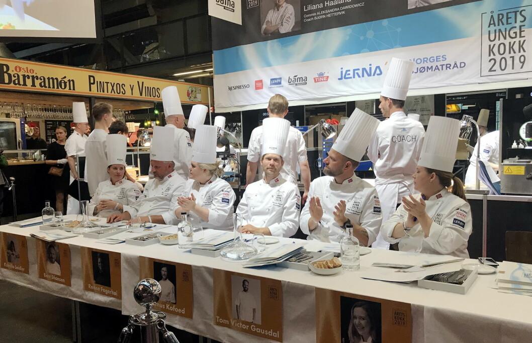 Juryen i Årets unge kokk  2019.