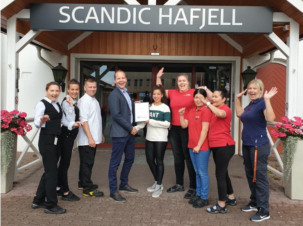 Scandic Hafjell ble av NHO Innlandet kåret til månedens bedrift i september (Foto: Scandic)