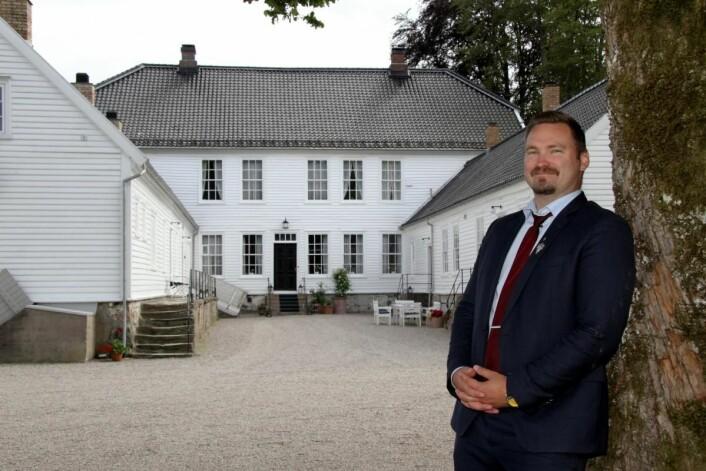 Dagfinn Galdal er hovmester, sommelier og daglig leder for Boen gård. (Foto: Morten Holt)