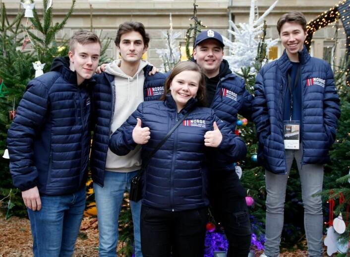 Noen av lærlingene som var med på tur til Luxembourg i 2017. (Foto: Sjo & Floyd)