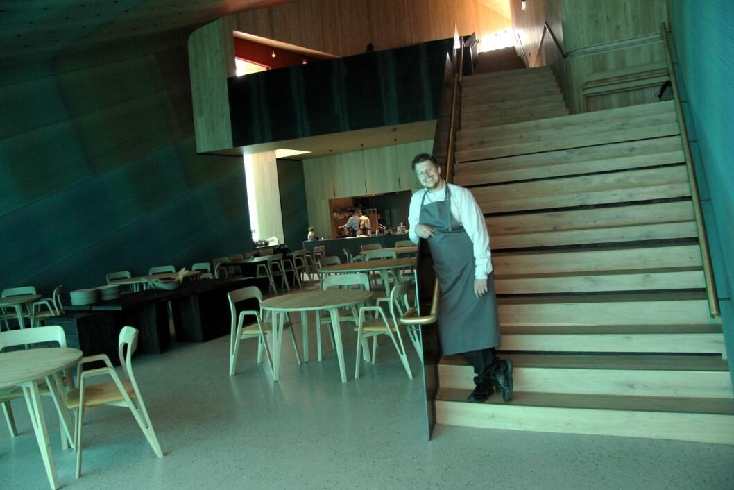 Restaurant Under med kjøkkensjef Nikolai Ellitsgaard er en av tre nominerte tl Årets kjøkken. (Foto: Morten Holt)