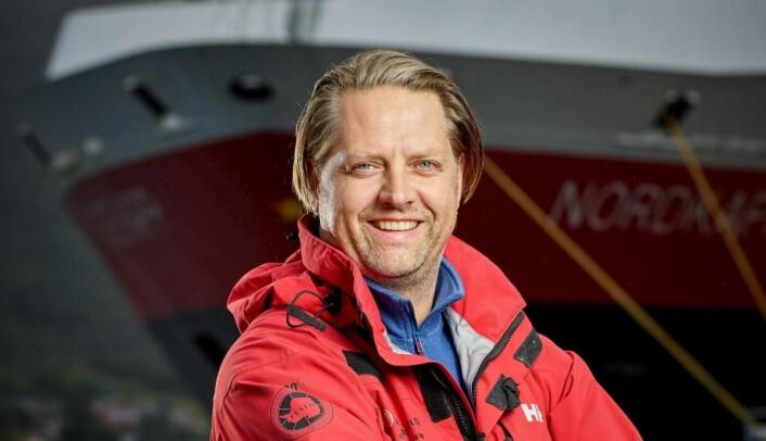 Kjøkkenet på Hurtigruten er en av de nominerte til Årets storkjøkken. Her F&B-manager for Hurtigruten, Freddy Bruu. (Foto: Ørjan Bertelsen)