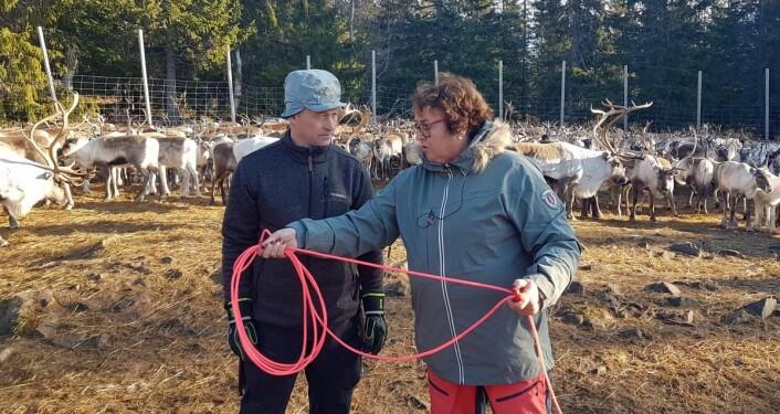 Tor Enok Larsen og Olaug Bollestad. (Foto: Landbruks- og matdepartementet)