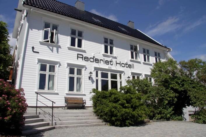 Rederiet Hotell i Farsund. (Foto: Morten Holt)
