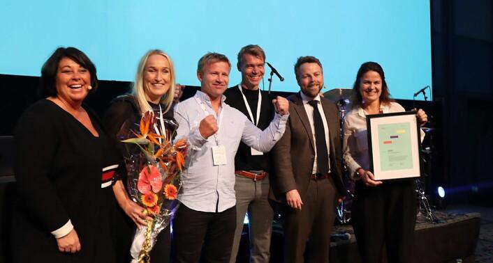 Under ble tildelt Reiselivsprisen 2019 under Innovasjon Norges årlige arrangement «Kickoff reiseliv» i Oslo. (Foto: Innovasjon Norge)