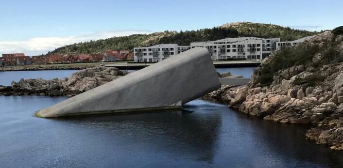 Restaurant Under. Lindesnes Havhotell i bakgrunnen. (Foto: Morten Holt)