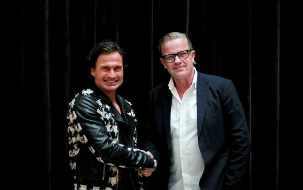 Petter Stordalen og Magnus Wikner. (Foto fra Strawberry Group)