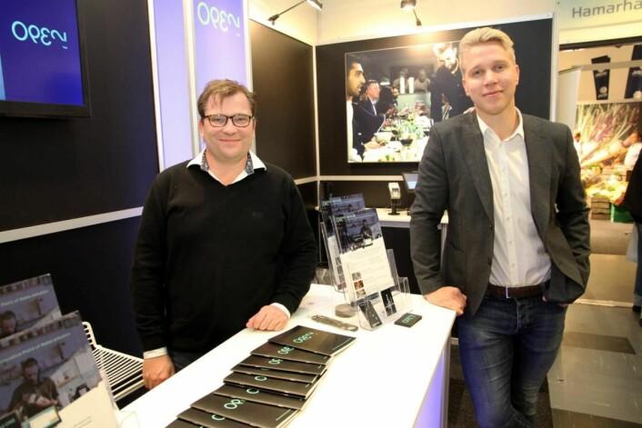 Open var på plass på Østlandske Storhusholdning. Her Eivind Heimdal (til venstre) og Kristian Haraldsen. (Foto: Morten Holt)