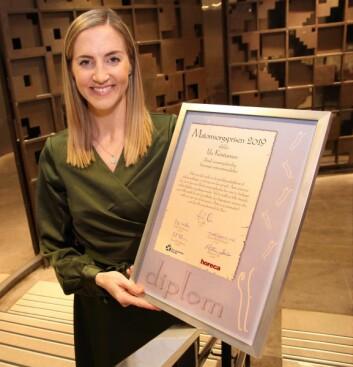 Ida Kristiansen er tildelt Matomsorgsprisen 2019. (Foto: Morten Holt)