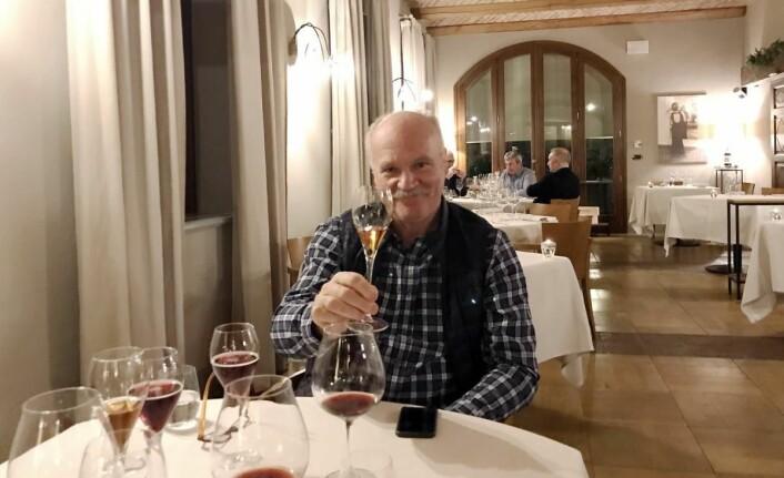 Mat og drikke på Cesarine-menyen. Her fra Villa Tiboldi i Piemonte. (Foto: Morten Holt)