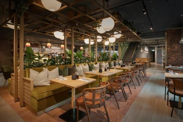 Den nye restauranten Skabos Hage på nyrenoverte Scandic Sjølyst. (Foto: Scandic Hotels)