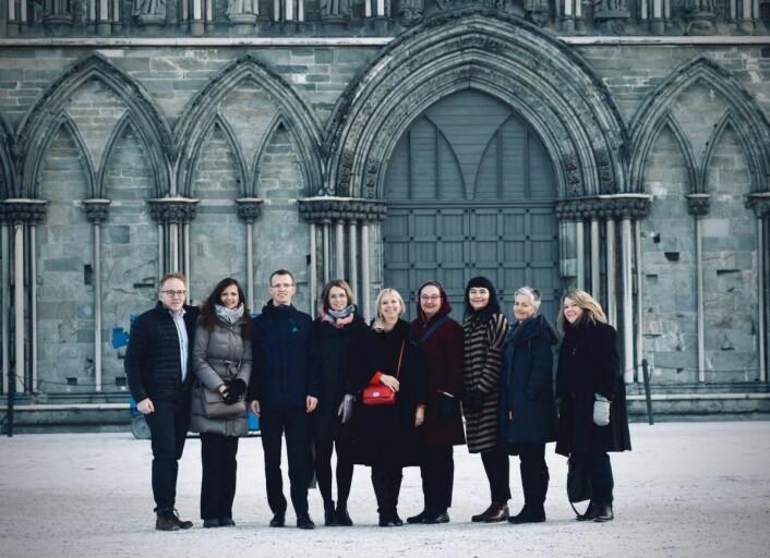 Juryen ved Nidarosdomen.