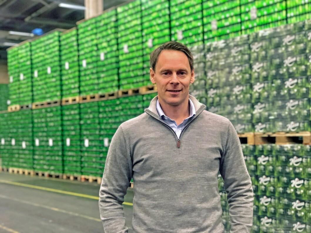 Niklas Minken er ansatt som kommersiell direktør i Hansa Borg Bryggerier. (Foto: Hansa Borg Bryggerier)