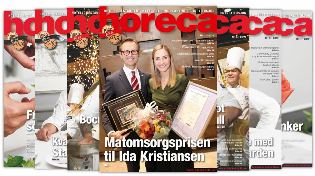 Forsiden på Horecas sjuende utgave i 2019. (Foto: Morten Holt/layout: Tove Sissel Larsgård)