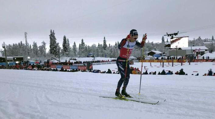 Didrik Tønseth i aksjon i skiløypa på Beitostølen i helga. (Foto: Morten Holt)