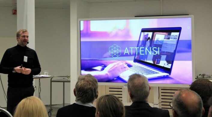 Bjarne Johnson hos Attensi presenterer. (Foto: Coor)