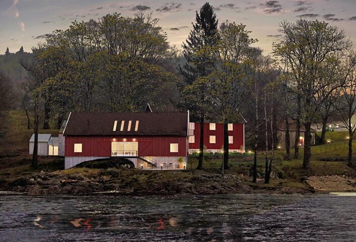 De nye overnattingsstedene sett fra elva. (Illustrasjon: Boen Gård)