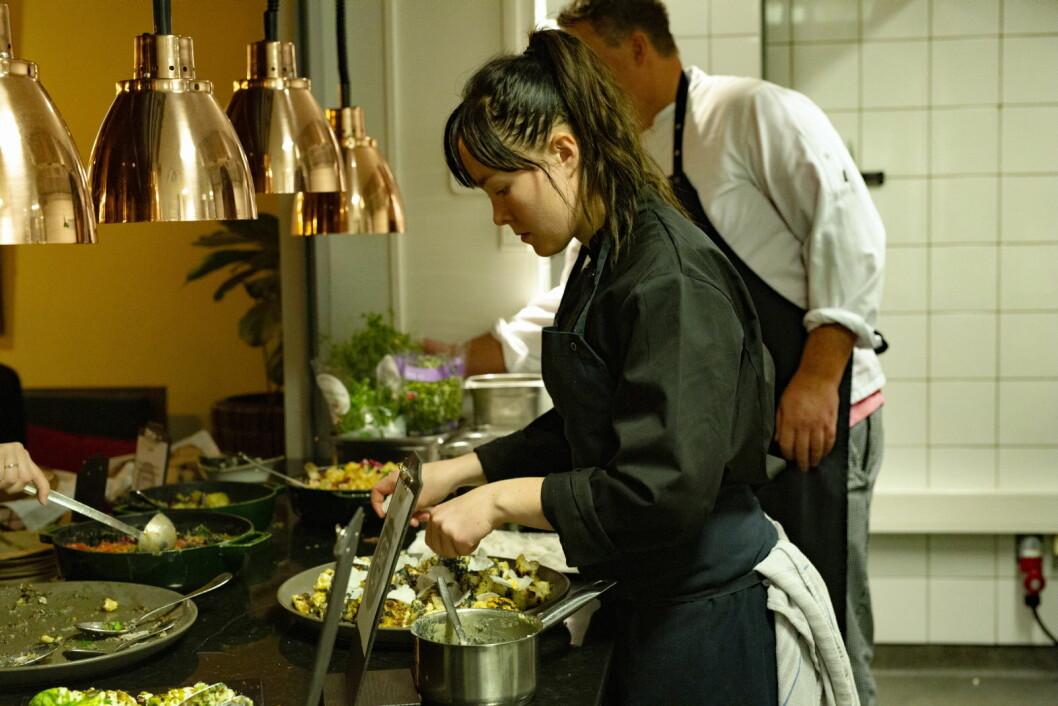 Maren Bjerkeli er hovedkokk for nye restauranten Grow på Vulkan i Oslo. (Foto: Nordic Choice Hotels)
